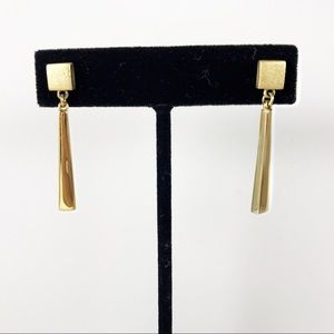 Napier swanky vintage goldtone drop earrings